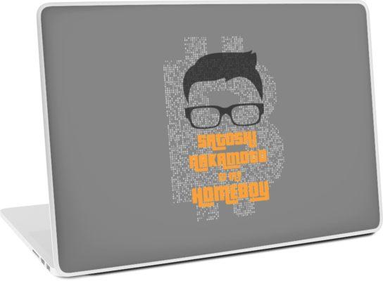 Satoshi Nakamoto is My Homeboy Laptop Skin.jpg