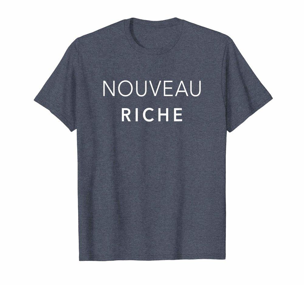 Nouveau Riche White Text T-Shirt
