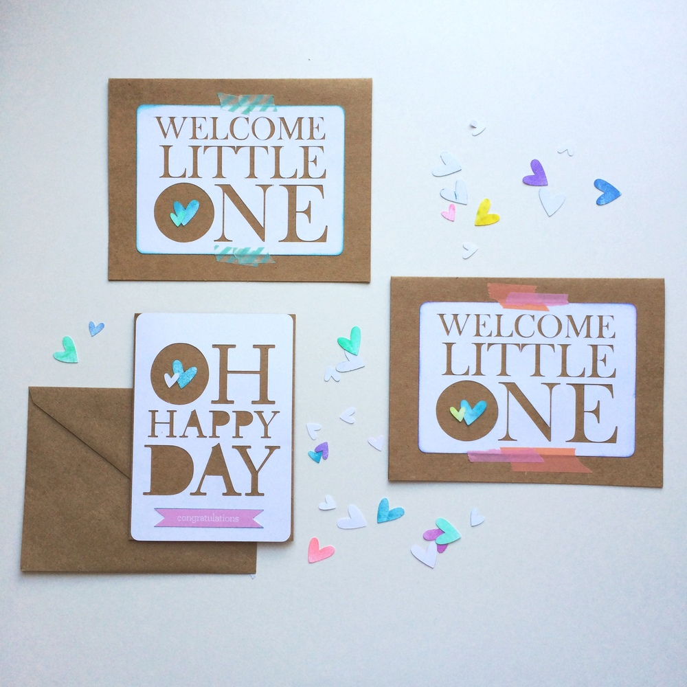 BSaz-Creates-Maternity Cards-Handmade-Set