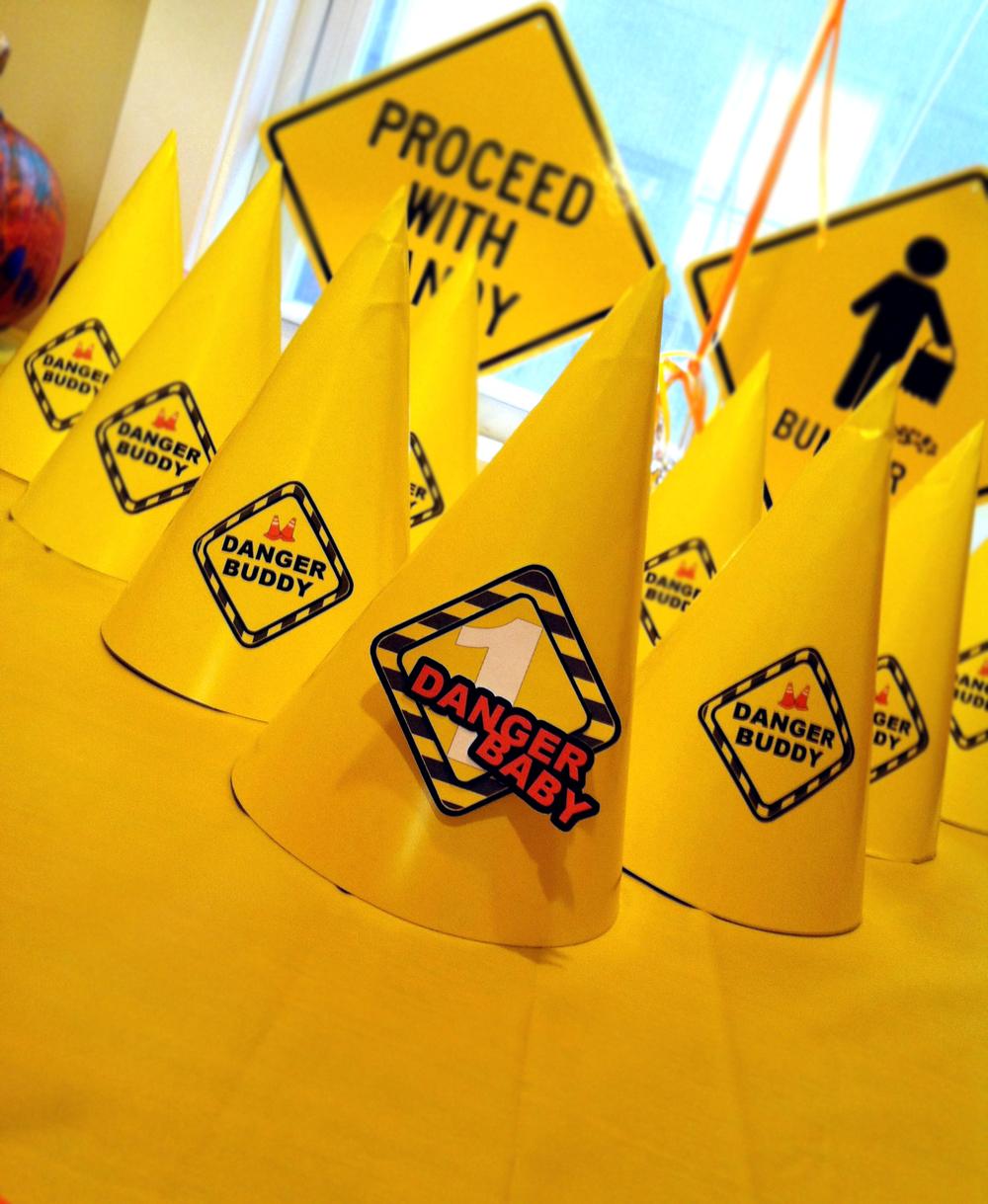 BSAZ CREATES   DANGER BABY CUSTOM BIRTHDAY   PARTY HATS