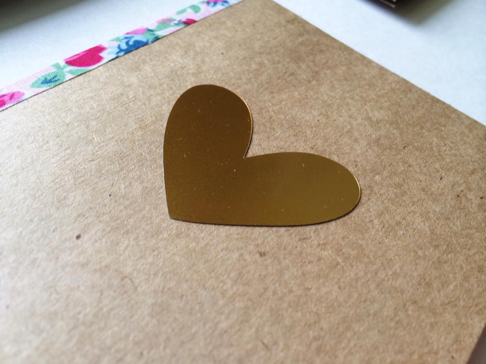 BSaz Creates | Gold Foiled Greeting Card