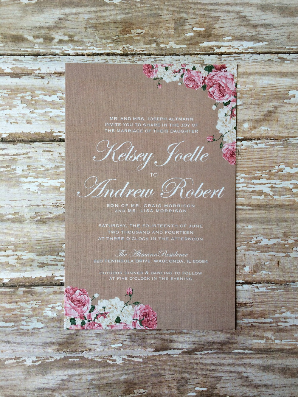 Bsaz Creates_Kelsey and Andrew Wedding Invite