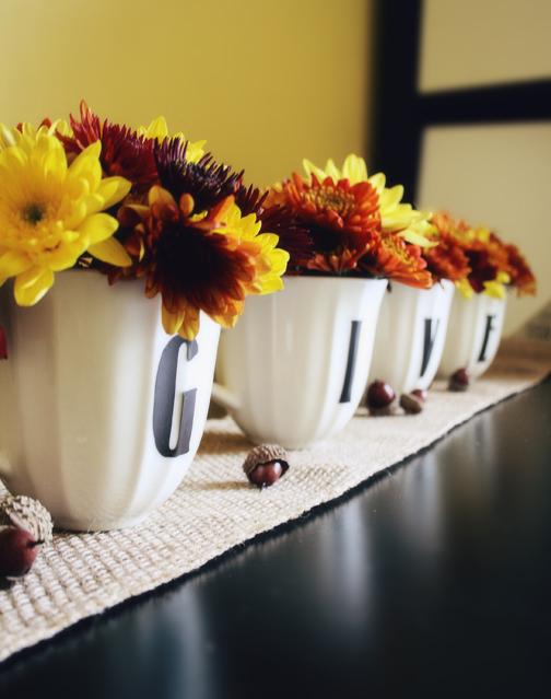 BSaz Creates | Thanksgiving Center Piece GIVE