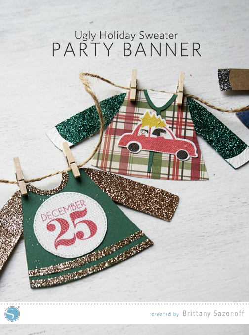 Ugly Holiday Sweater Free Design Garland _ Brittany Sazonoff (BSaz Creates) for Silhouette America