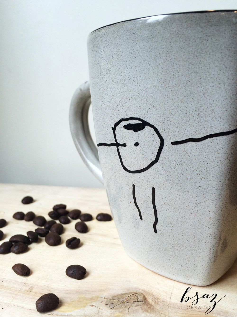 BSaz Creates Child Drawing Mug Art for Silhouette America