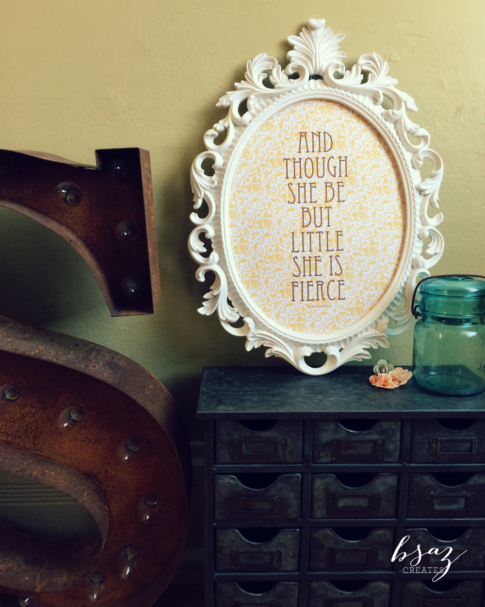 BSaz Creates Nursery Quote Wall Art