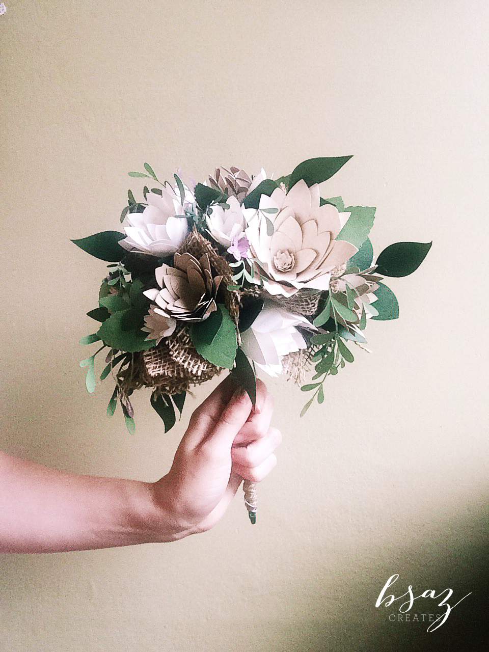 BSaz Creates Paper Floral Wedding Bouquet