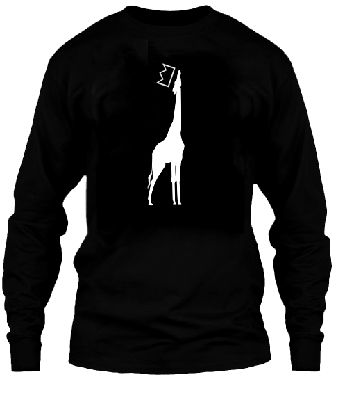 QGU GIRAFFE LOGO LONG SLEEVE TEE - available in S, M, L, XL and XXL*quality cotton blend tees , available in Black Only no image on back