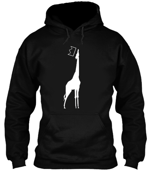 QGU GIRAFFE LOGO HOODIE - available in S, M, L, XL and XXL*quality cotton blend, available in Black Only no image on back