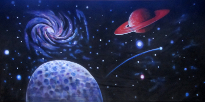 Space Backdrop  Stars and Planets