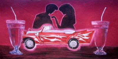 Grease Backdrop  Greased Lightning