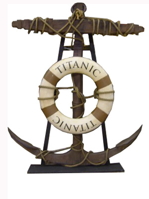 Large Anchor - Approx 1.8m  With 'Titanic' Lifering (opptional)