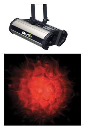 Flame effect projector light