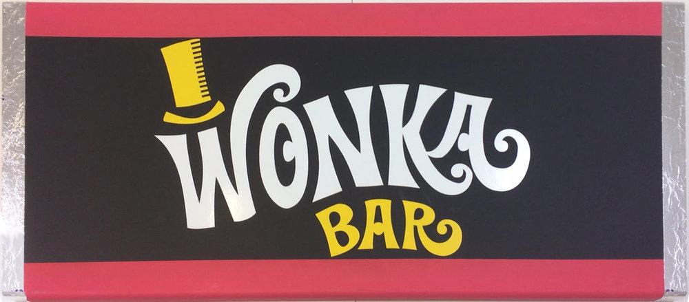 Giant 3D WONKA bars