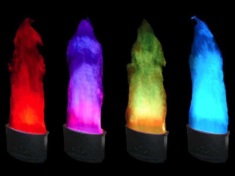 Colour changing flame lights