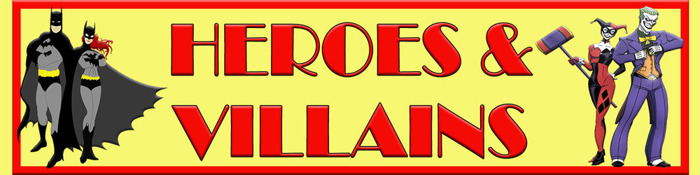 Heroes and Villains Mesh Banner - 8' x 2'