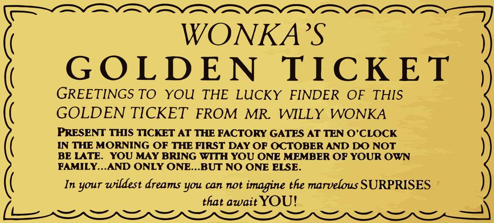 Giant Golden Ticket -1700 x 1060mm