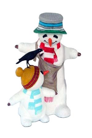 Snowman and Snowchild with blackbird.jpg