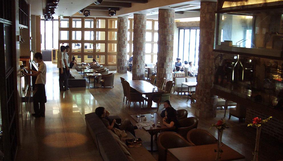 original café view before display