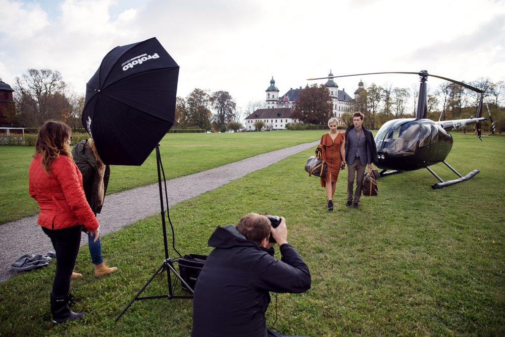 Behind the scenes från ett av alla roliga assistentjobb jag haft med Andreas Lundberg.