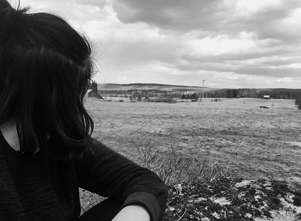 Tidigare i våras, under sjukskrivningen, när allt jag behövde och gjorde var att andas norrländsk luft och gå långa promenader.