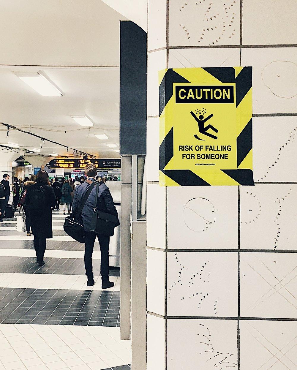 Snubbelrisk.  T-Centralen, Stockholm.