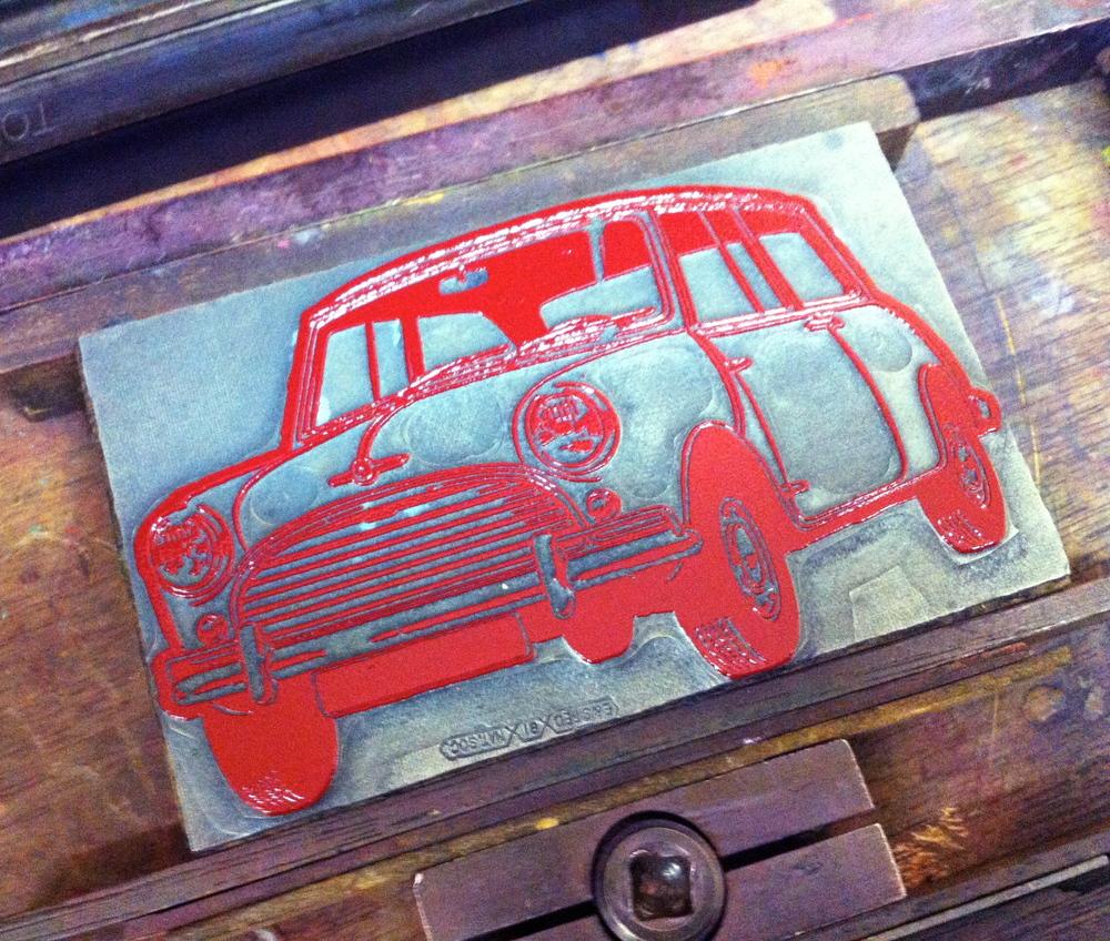 retro letterpress