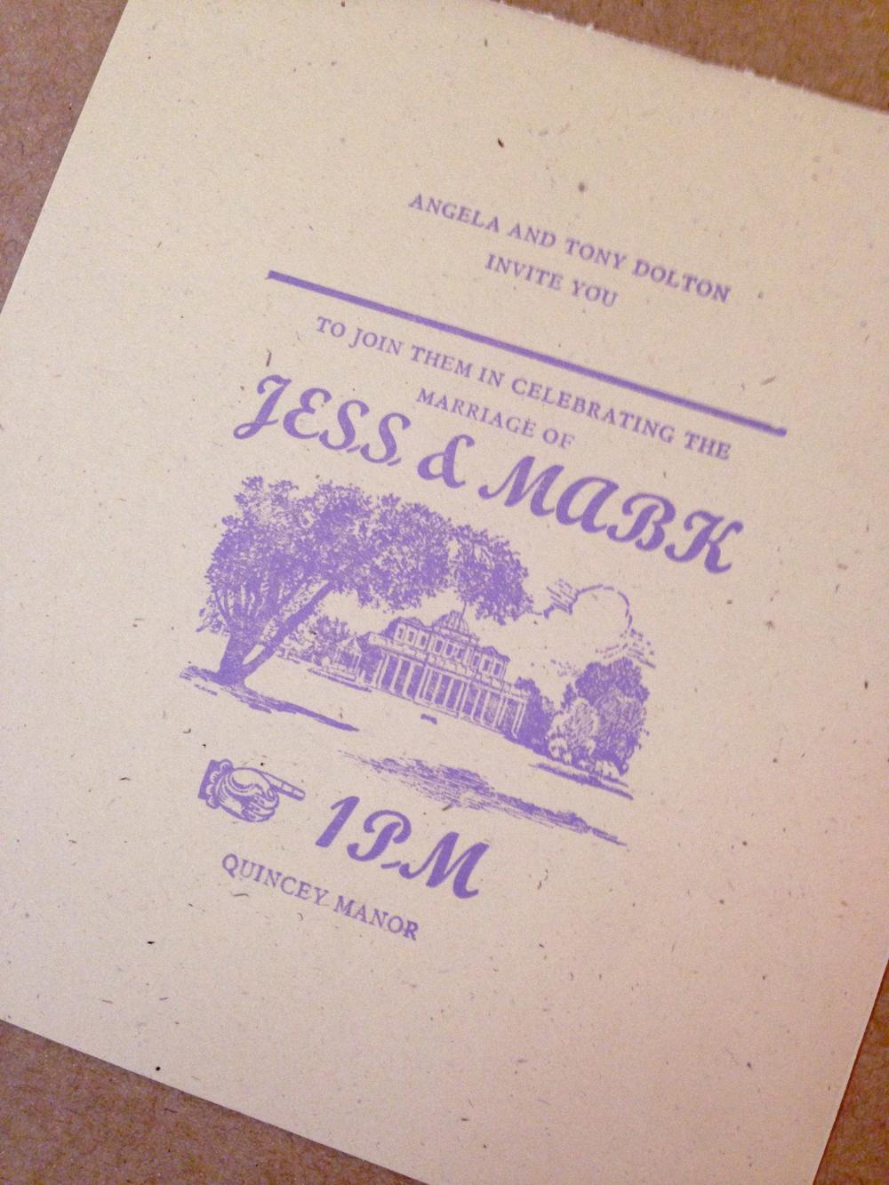 letterpress statonery
