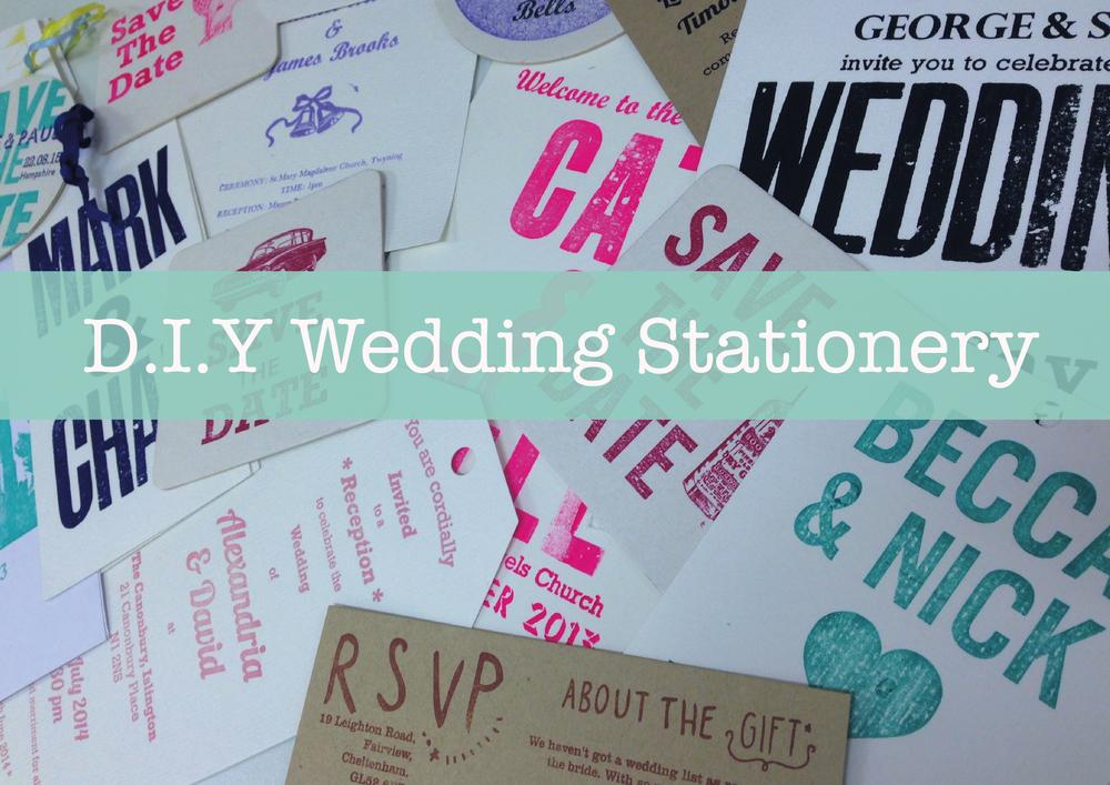 D.I.Y wedding invitations