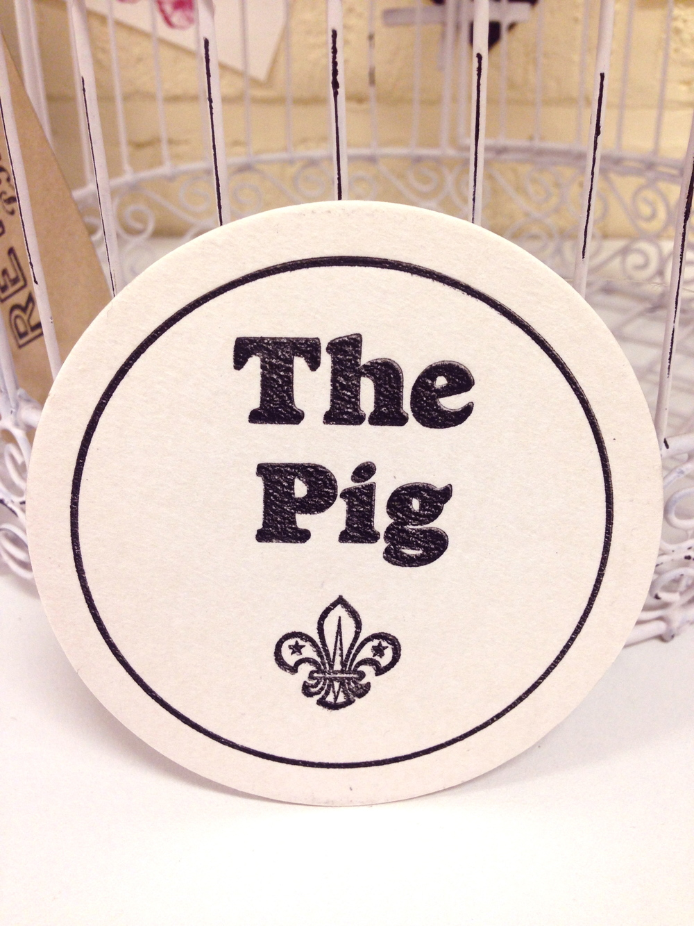 letterpress wedding coasters