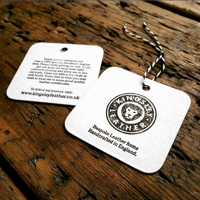 letterpress swing tags