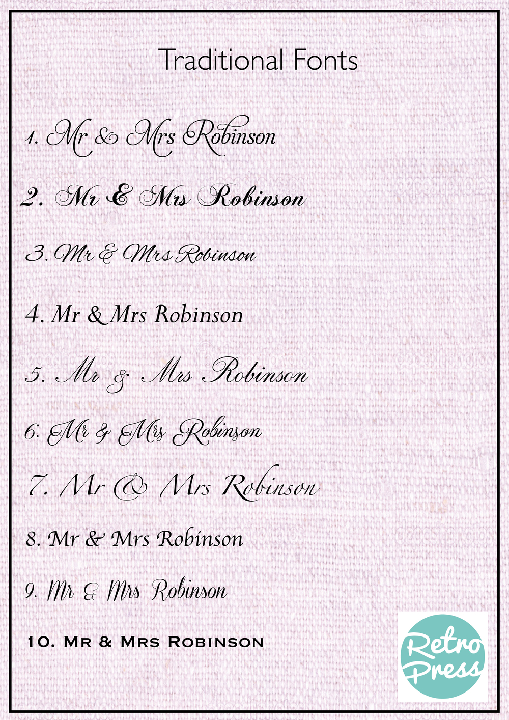 traditional wedding fonts