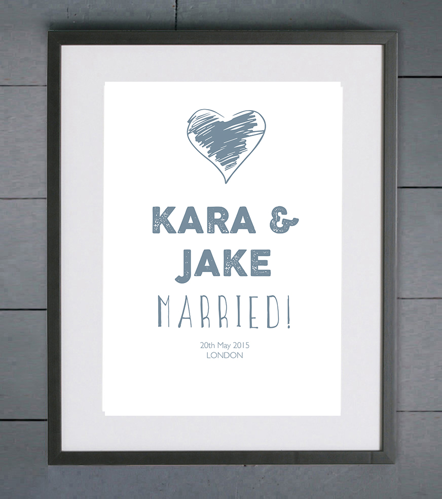 wedding print. home decor