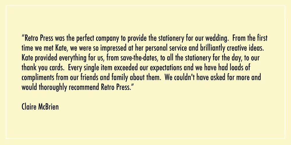 retro press testimonial