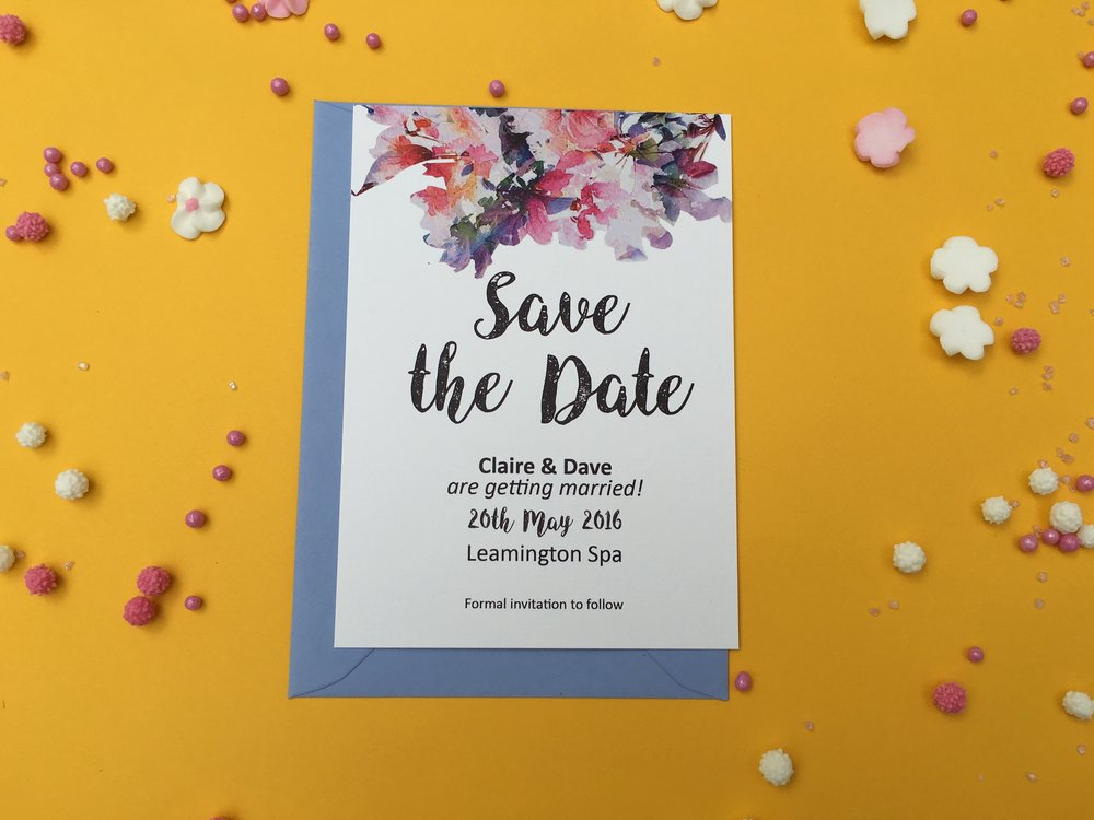 watercolour flower save the date