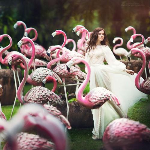flamingo style wedding