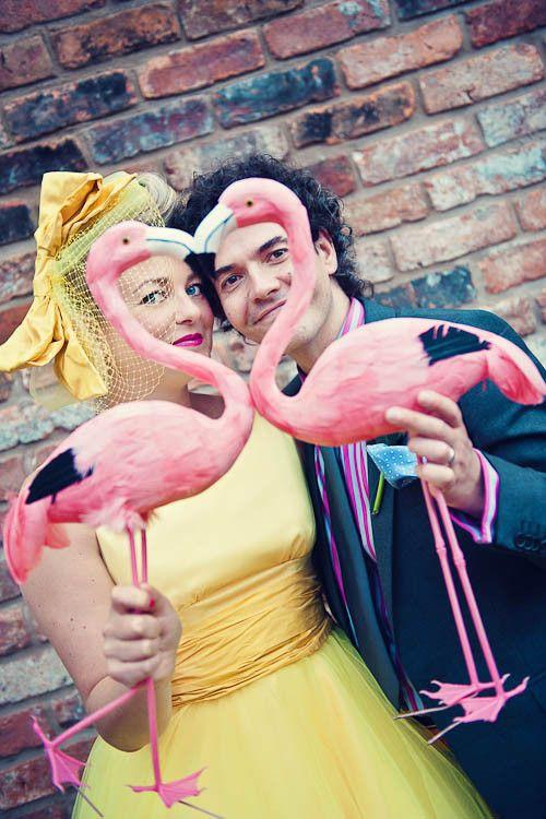 flamingo themed wedding