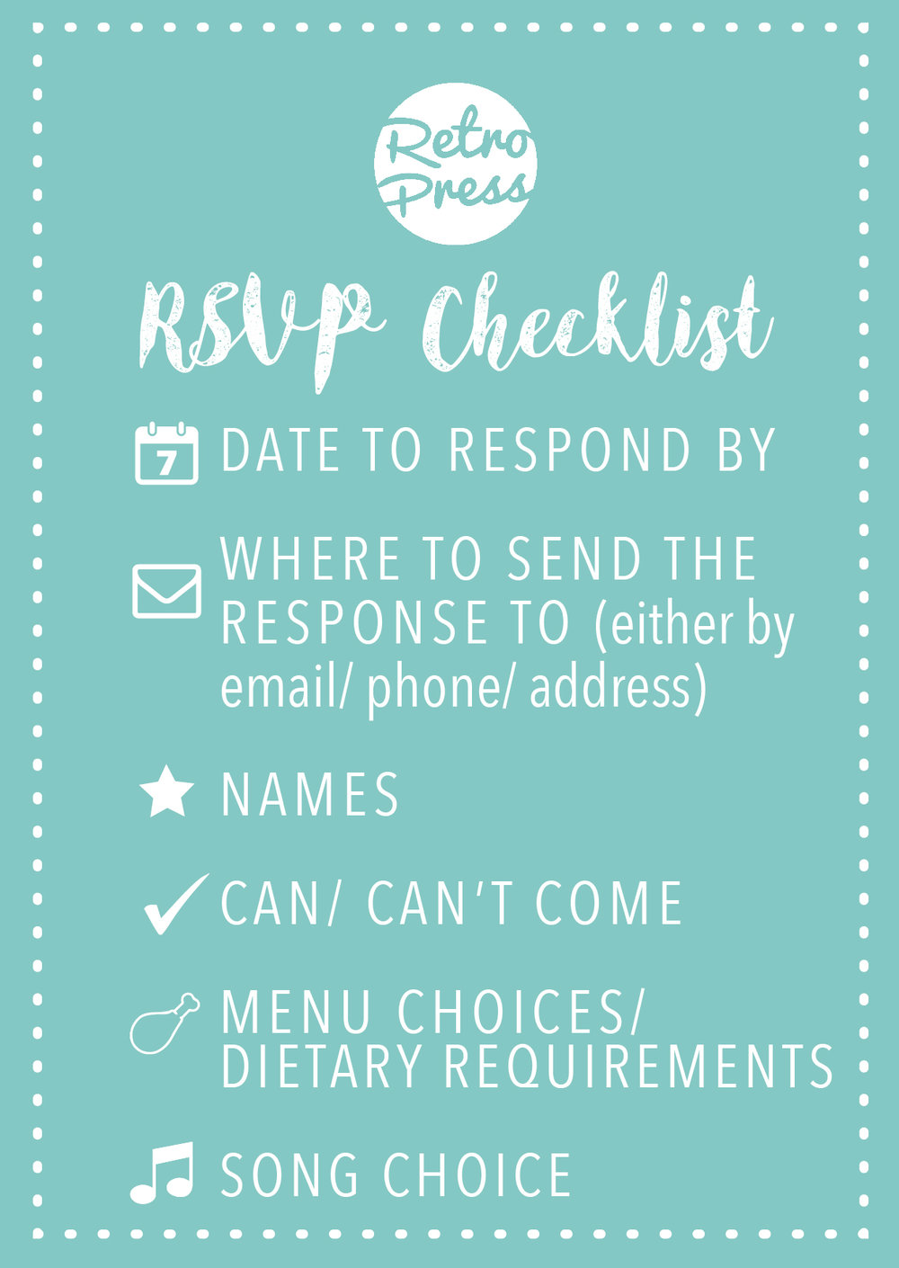 invitation wording checklist