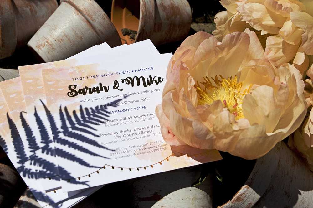 Wedding flowers meets wedding invitations