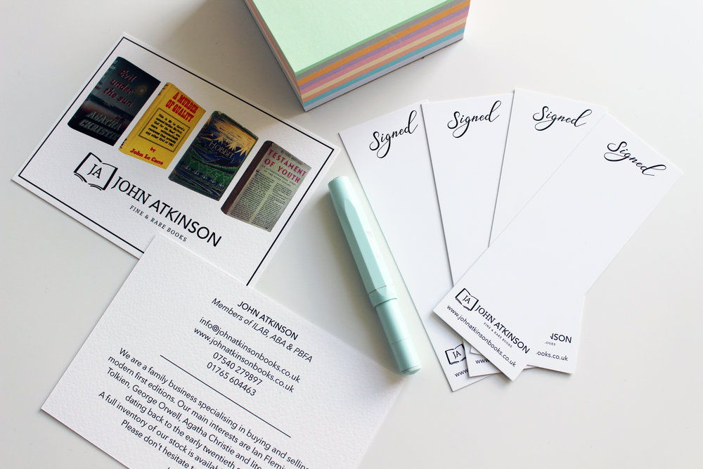Business Stationery; Postcards & Bookmarks