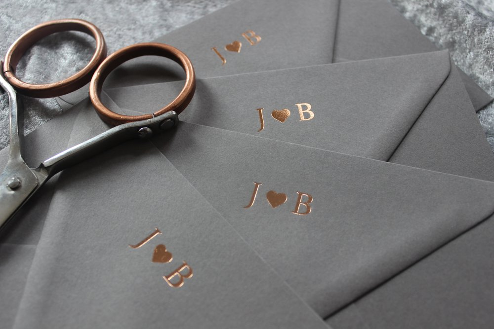 Rose Gold Envelopes