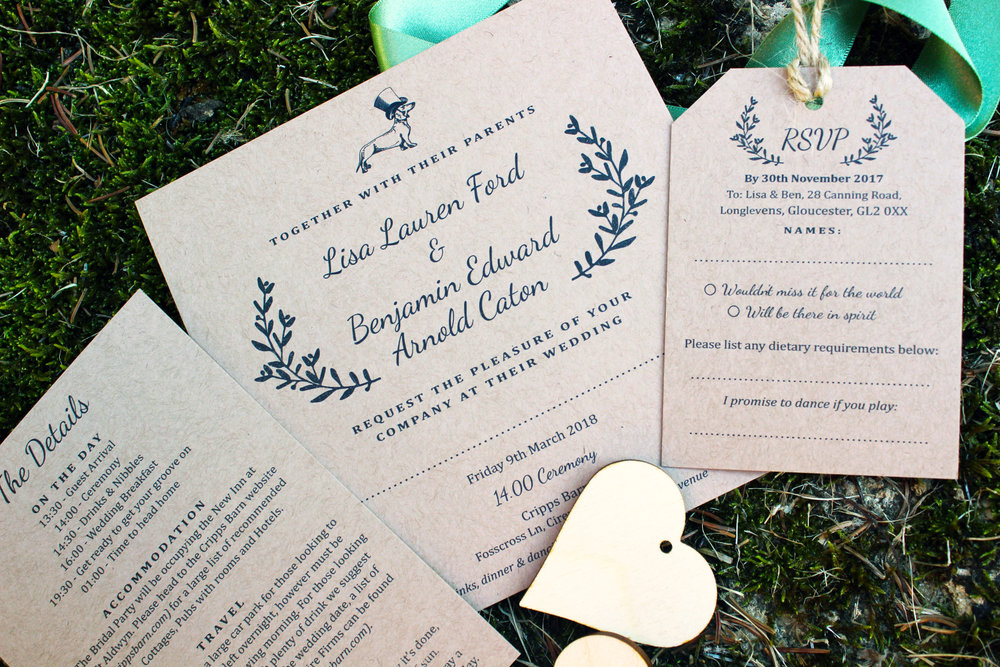 Rustic Wedding Invitations for Cripps Barn