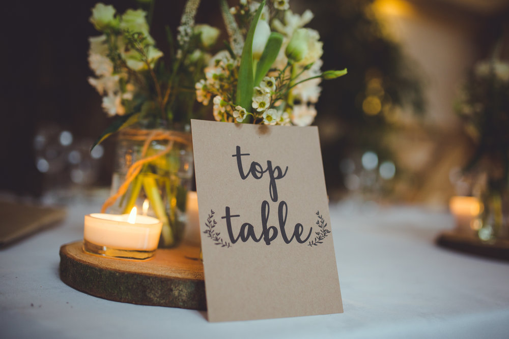 Rustic Table Name