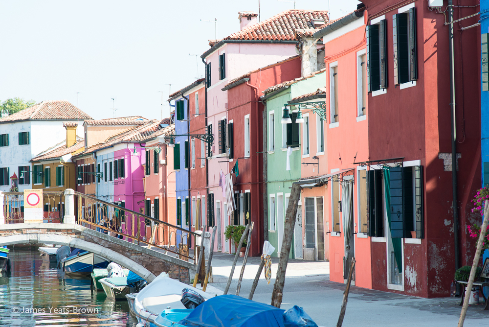 Burano - colourful houses line the canal