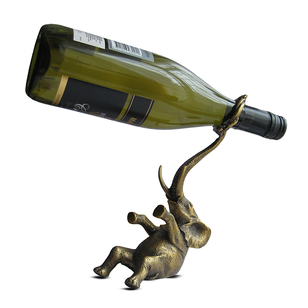 MENAGERIE Antique Brass Bottle Holders, $125