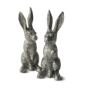 MENAGERIE Fine Pewter Salt & Pepper Shakers, $40