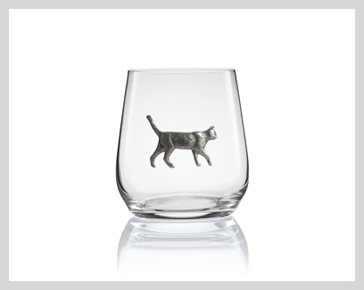 Menagerie Crystal Stemless Wine Glasses, $15
