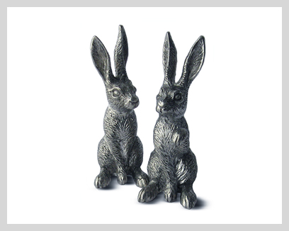 Menagerie Fine Pewter Salt & Pepper Sets