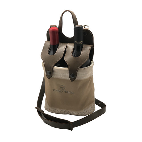 Leather Wine Carrier >> Leather And Sail Cloth Wine Carrier Menagerie