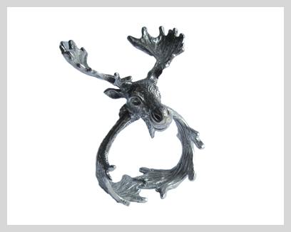 Menagerie Fine Pewter Napkin Rings, $15